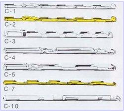 画像1: アンプル保持用ケーン C-10 シルバー  マイサイエンス株式会社